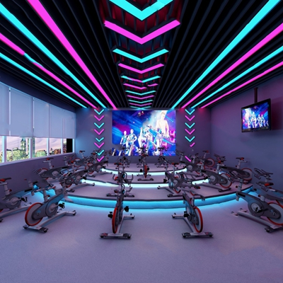 现代健身房3D模型【ID:920610350】