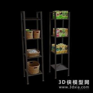 超市货架国外3D模型【ID:229847329】