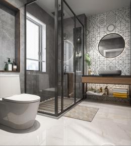 北欧卫生间浴室3D模型【ID:128405665】