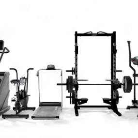 现代健身器材3D模型【ID:534737355】