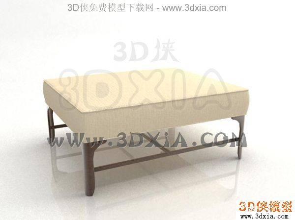 單人沙發-3DMAX2008-1453D模型【ID:34206】