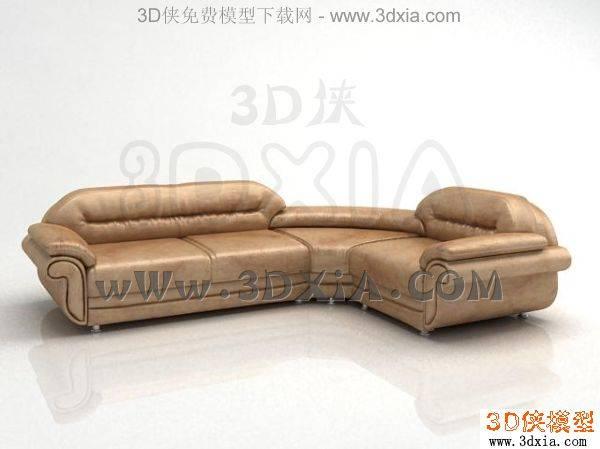 多人沙發-3DMAX2008-1263D模型【ID:34328】
