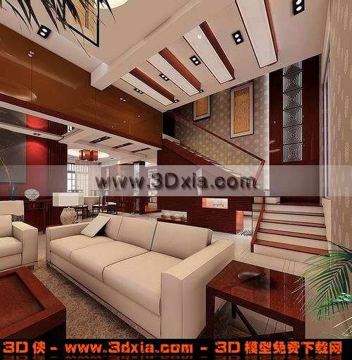 精美的家居场景3D模型【ID:3446】