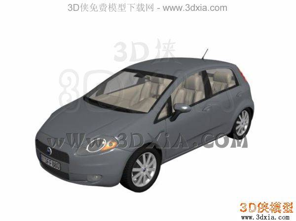 汽车-3DMAX8-Fiat3D模型【ID:34607】