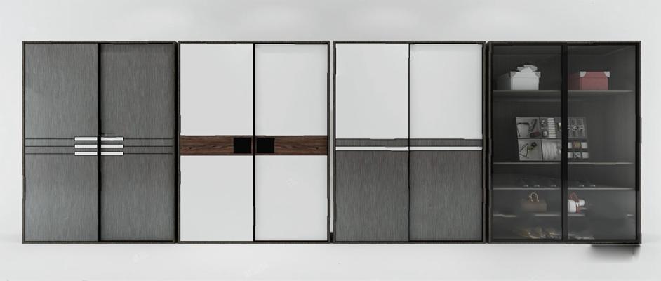 现代衣柜3D模型【ID:926226912】