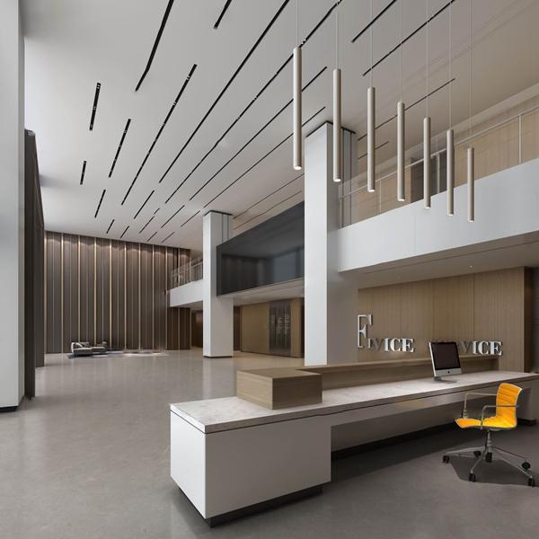 现代办公楼大堂前台3d模型