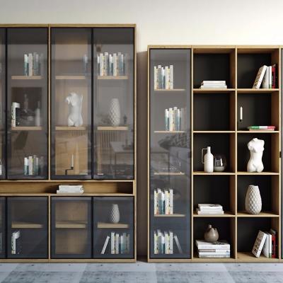 现代实木书柜3D模型【ID:928560559】