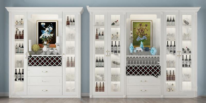 现代酒柜3D模型【ID:924896018】
