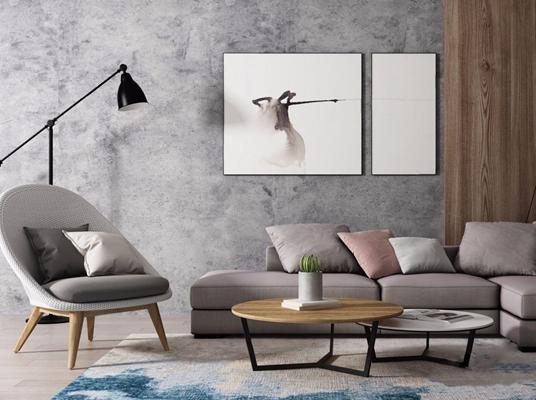 北欧沙发椅子3D模型【ID:928175967】