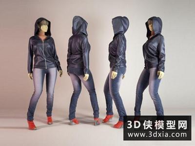 模特國外3D模型【ID:929642678】
