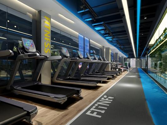 现代健身房3D模型【ID:420600575】