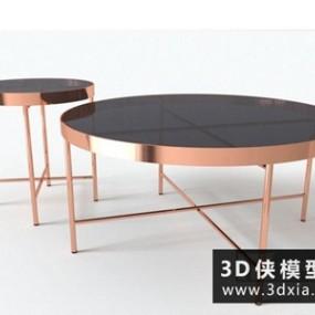 现代茶几国外3D模型下载【ID:829342180】