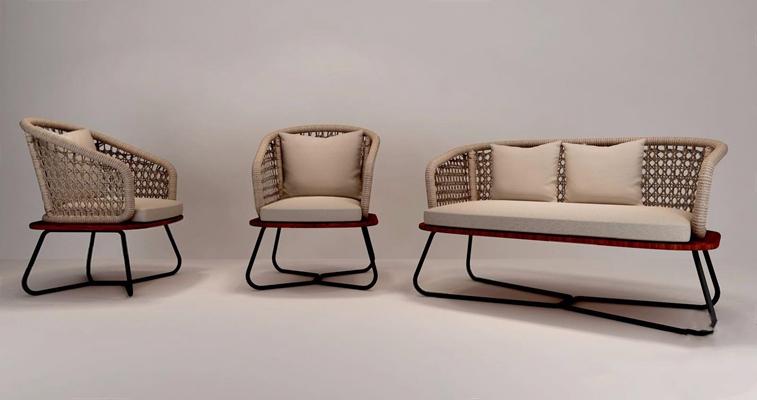 藤编椅3D模型【ID:327926371】
