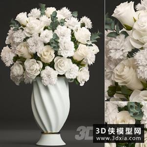 欧式装饰花国外3D模型【ID:929330816】