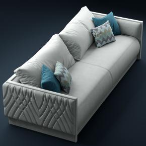 现代双人布艺沙发3D模型【ID:927831725】