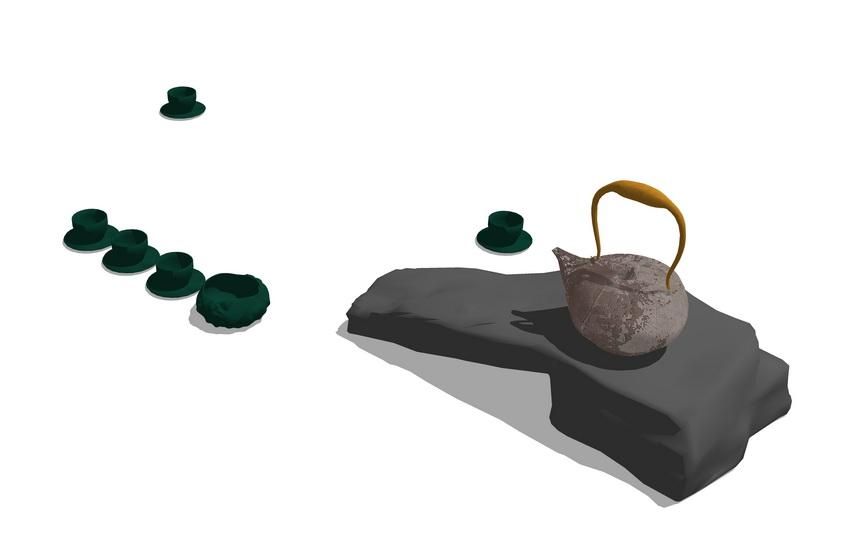 茶具SU模型【ID:936364405】