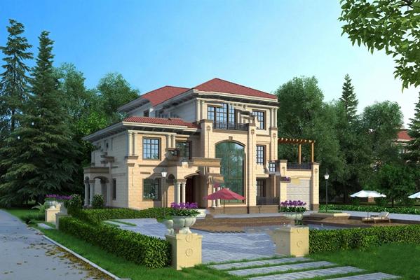 现代别墅3D模型【ID:324880608】