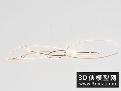 现代吊灯国外3D模型【ID:829416714】