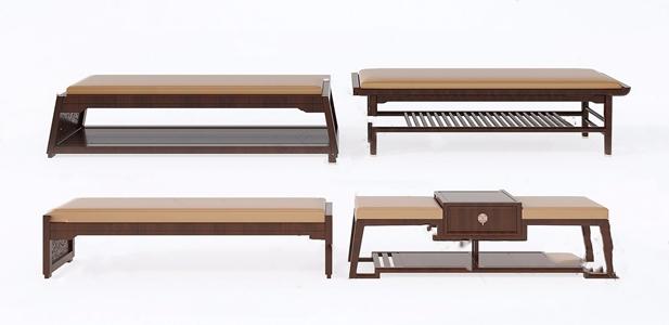 新中式長凳3D模型【ID:420805372】