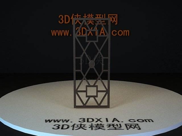 屏风隔断3D模型下载-07-版本3D8【ID:36150】