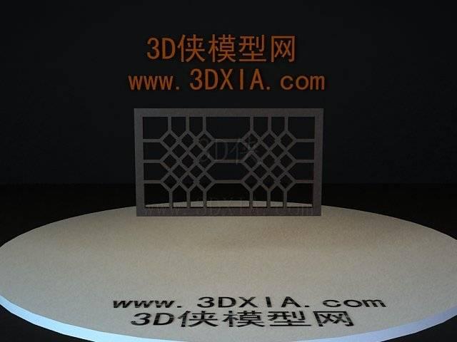 屏风隔断3D模型下载-09-版本3D8【ID:36152】