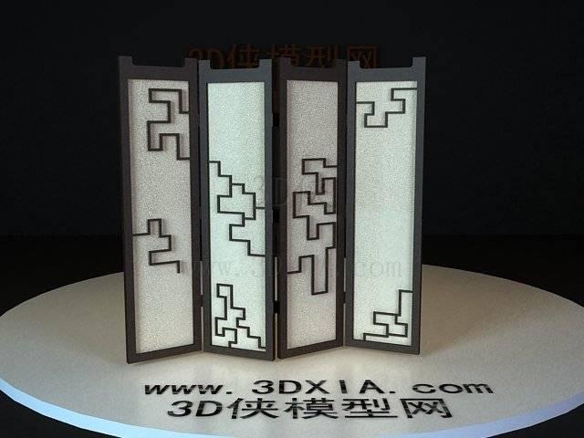 屏风隔断3D模型下载-36-版本3D8【ID:36179】