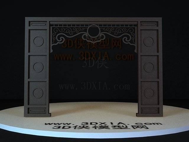 屏风隔断3D模型下载-38-版本3D8【ID:36181】