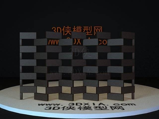 屏风隔断3D模型下载-44-版本3D8【ID:36187】