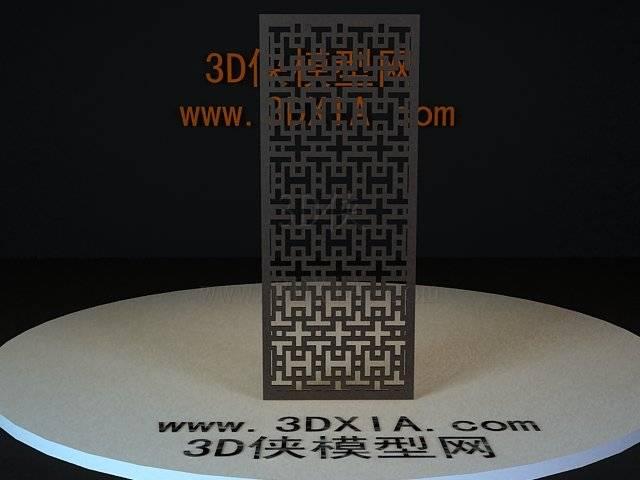 屏风隔断3D模型下载-74-版本3D8