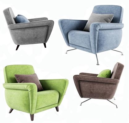 北欧单人休闲沙发3D模型【ID:928353606】