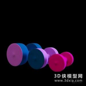 啞鈴國外3D模型【ID:129845815】