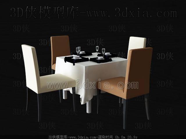 餐桌3D模型下载-03-版本MAX8【ID:36540】