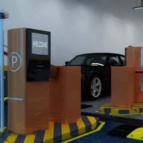 现代停车场下载3D模型【ID:519468918】