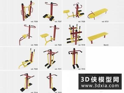運動器材國外3D模型【ID:129348816】