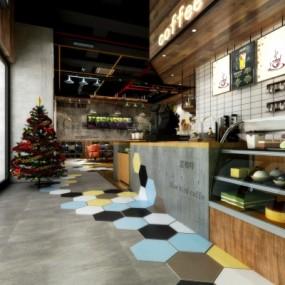 工业风咖啡厅3D模型【ID:327794681】
