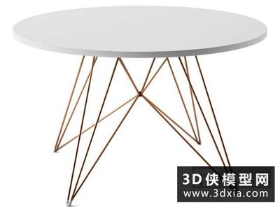 現代圓桌國外3D模型【ID:729433764】