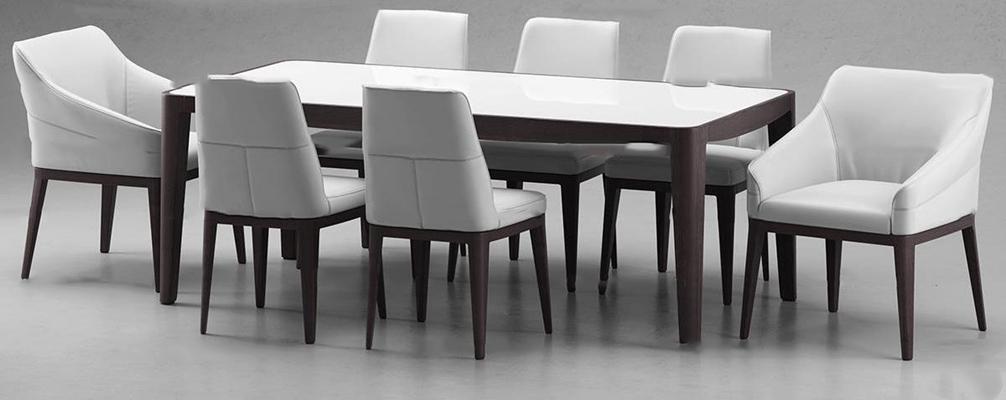 现代餐桌椅组合3D模型【ID:36867144】