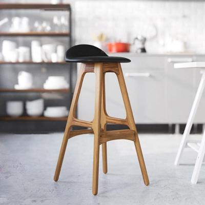 现代实木吧台椅3D模型【ID:36873713】