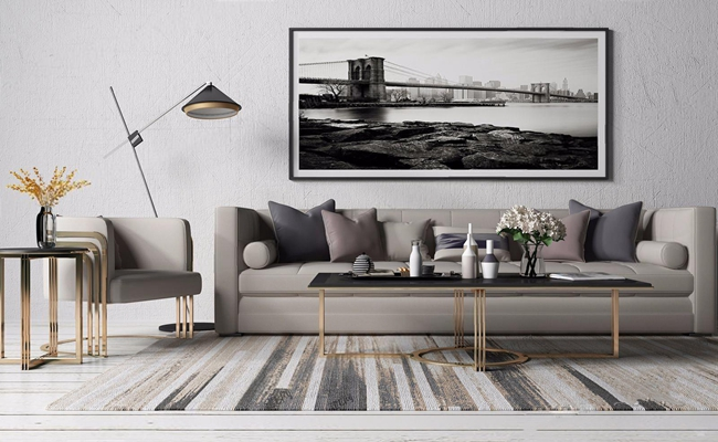 现代沙发组合3D模型【ID:36960040】
