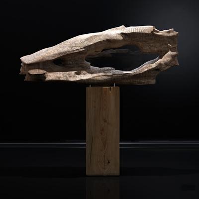 新中式朽木雕塑摆件3D模型【ID:36962186】