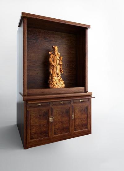 中式佛龛财神雕塑3D模型【ID:36965084】