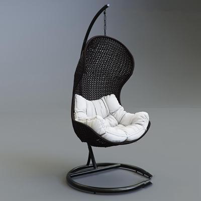 现代藤编户外吊椅3D模型【ID:36965730】