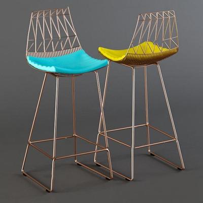 现代铁艺吧台椅3D模型【ID:36995813】