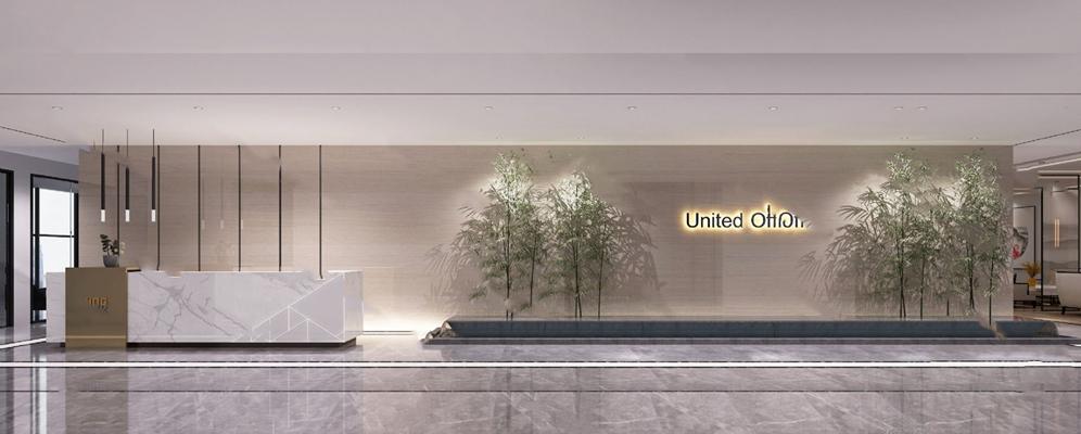 现代大厅3D模型【ID:124886256】