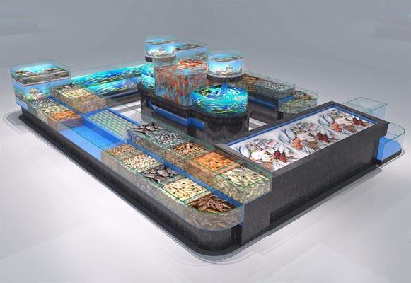 海鲜池3D模型【ID:628052776】