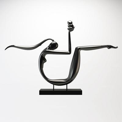 现代人物雕塑摆件3D模型【ID:37056085】