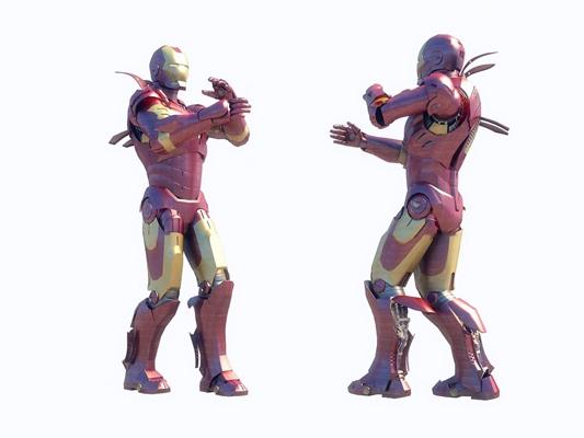 现代钢铁侠3D模型【ID:37056344】