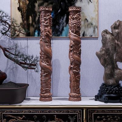 新中式祥云盘龙柱雕塑摆件3d模型【ID:37070588】