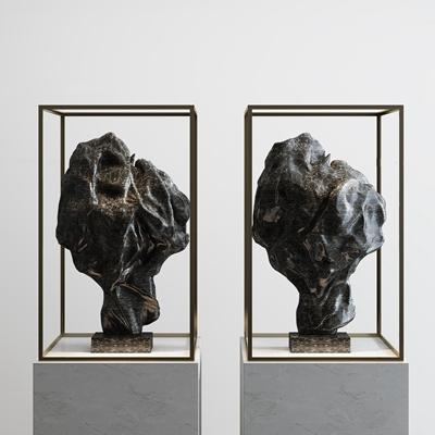 新中式石雕摆件3D模型【ID:37078281】