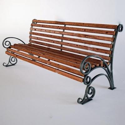 公园椅3D模型【ID:37092536】